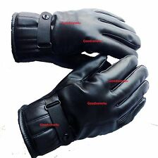Premium Gloves for men Boys male in Leather for Winter Rainy and Riding driving
