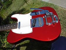 Fender Squier Telecaster Candy Apple Red W/ Bigsby with Super Road Runner Case