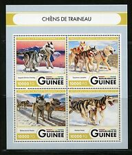 GUINEA 2016 SLED DOGS SHEET MINT NH