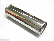 "Polished Alloy Induction Pipe 3.5"" 89mm x 300mm Long Straight Joiner Coupler 12"""