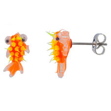 Lux Accessories Tropical Fish Jelly Stud Earrings