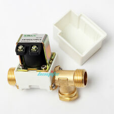 """12V DC Electric Solenoid Valve Water Air Outside 1/2"""" Brass Normally Closed N/C"""