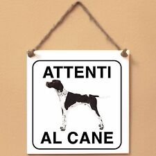 Pointer 1 Attenti al cane Targa cane cartello ceramic tiles