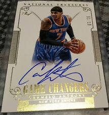 Carmelo Anthony Auto Game changers NAtional TReasures Ebay 1/1