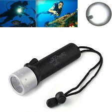 5000LM LED Diving Scuba Flashlight Torch Underwater Light lamp Waterproof Black
