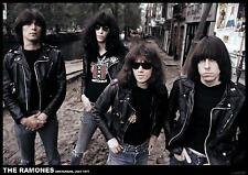 """NEW Ramones POSTER Amsterdam 1977 color large 34"""" x 24"""""""