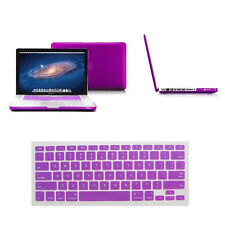 "Macbook Rubberized Hard Case &Free Keyboard Cover for Mac Pro Air 11""13""15"" inch"