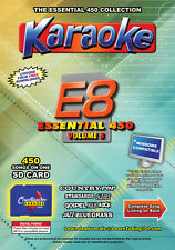 Chartbuster Essential 450 Vol. E8 - 450 MP3G SD Card Karaoke CDG Music 4 PLAYER