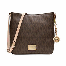 Michael Kors Jet Set Large Travel Logo Brown PVC Messenger Bag 30T2GTVM3B-200