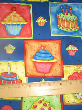 Celebrate -- Birthday Cakes and Cupcakes allover Royal Blue--So Cute!!!