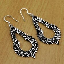 Argent sterling 925 oxydé Dangle Boucles D'oreilles made in india new fashion jewelry