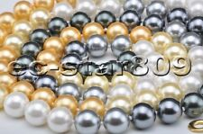 """P6268 50"""" 12mm Gradient Golden-Black SOUTH SEA SHELL PEARL NECKLACE"""