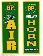 "2 X BP ""AIR & HORN"" Stickers Decal VINYL Garage Promo Service Station OIL PETROL"