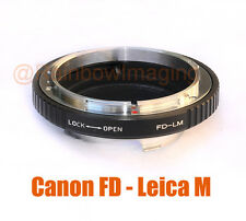 Canon FD Lens to Leica M Mount Camera Adapter M6 M8 M7 M9 Ricoh GXR A12