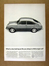 1966 VW Volkswagen Fastback photo 'What's a nice-looking car like you' print Ad