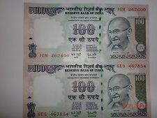 - INDIA PAPER MONEY- 2  'MG' NOTES - RS. 100/- YEAR '2006 '-ONE SIGNATORY#E24iii