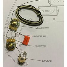 Electric Guitar Parts TAOT Wiring Kit - Fender Precision Bass P-Bass - Orange
