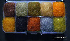 Antron Dubbing Dispenser Box Fly Tying - The bug box. Natural colors  Worldwide!