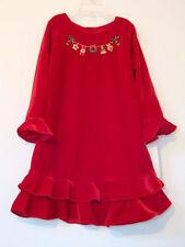 Girls Sophie Rose Velvet Christmas Party Dress Beaded Applique Detail NEW 4