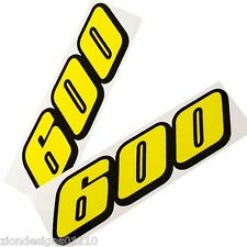 600 gsxr srad  motorcycle decals custom graphics stickers x 2 YELLOW