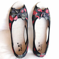Shose Cotton With Wedge Heels and Front & Side Opening for Casual comfort Size 7