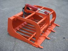"Kubota Compact Tractor Loader Attachment - 48"" Rock Bucket Grapple - Free Ship!!"