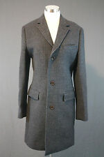 NEW J.CREW LUDLOW TOPCOAT IN GLEN PLAID ENGLISH WOOL 36 R NAVY $995 08136