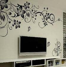 Removable Butterfly Flower DIY Vinyl Decal Art Mural Home Decor Wall Stickers PO