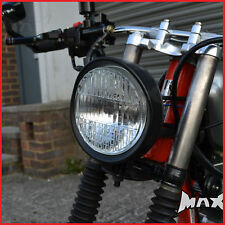 5.9 Inch Bottom Mount Matte Black Metal Headlight - Chopper Chop Trike Bike