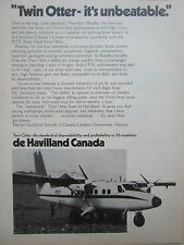 10/1974 PUB DE HAVILLAND CANADA TWIN OTTER BRADLEY AIR SERVICES ORIGINAL AD