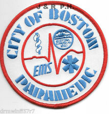 """Boston  Emergency Medical Services - Paramedic (4"""" round size) fire patch"""