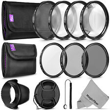52MM UV CPL ND4 Lens Filter Kit + Close Up Macro Lens Set +1 +2 +4 +10 for Nikon