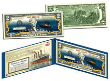 TITANIC Ship *Famous Nighttime Iceberg Image * Genuine Legal Tender U.S. $2 Bill