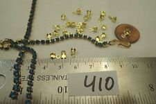 24 Vtg Rhinestone Connector Brass 2.5mm Chain Jewelry Craft repair AD HOOK Clasp