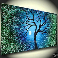 "Art Repro Modern Abstract oil painting:""Tree In canvas"" 24x48 Inch"