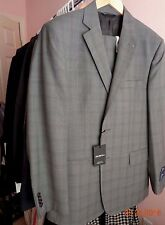 ERMENEGILDO ZEGNA MEN'S 2 BUTTON 2VENT GREY PLAID SUIT MODERN FIT SZ 40S