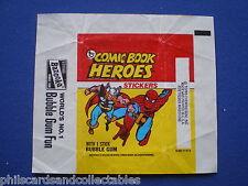 Comic Book Heroes  Bubblegum Card Wrapper    1974   U.K. Issue - Topps