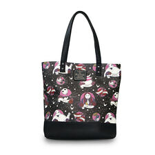 The Nightmare Before Christmas Characters Faux Leather Flash Tattoo Tote Bag