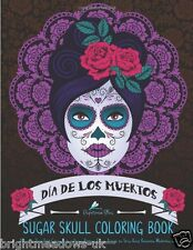 Day of Dead Sugar Skull Adult Colouring Book Creative Art Flowers Animals Muerto