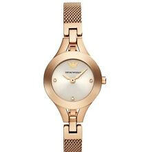 NEW EMPORIO ARMANI ROSE GOLD STAINLESS STEEL  LADIES WATCH AR7362