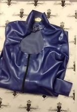 X0377 **DESIGNED+MADE IN UK* LATEX Rubber DRESS *Azure* Westward Bound £179 `12