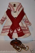 AMERICAN GIRL-KIRSTEN-SKATING OUTFIT W/ SCARF & SKATES- RETIRED