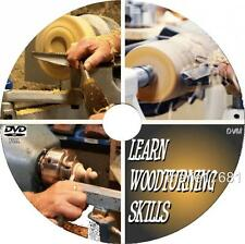 WOODTURNING & LATHE SKILLS FOR BEGINNERS SIMPLE GUIDE TOOLS & MATERIALS DVD NEW