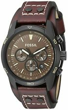 Fossil Coachman Brown Dial Chronograph Oak Barrel Leather Mens Watch CH2990