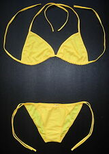 Sexy BRIGHT YELLOW BIKINI 2 Piece Swimming Costume Swimsuit Ladies Swimwear Gift