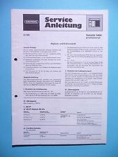 Service Manual-instrucciones para Grundig satellit 1400, original