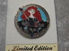 DISNEY STORE EUROPE PIN BRAVE MERIDA WITH TRIPLET CUBS LE 500