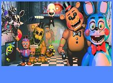 FNAF Five NIGHTS At FREDDY'S Birthday Party Frosting Cake Topper 1/4 sheet