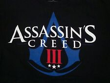 Assassin's Creed III 3 Ubisoft Montreal Video Game Release Black T Shirt M