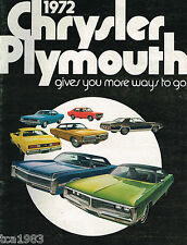 1972 CHRYSLER PLYMOUTH Catalog:DUSTER,BARRACUDA,ROAD RUNNER,IMPERIAL,FURY,SCAMP,